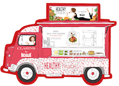 healthy truck clarins neuilly