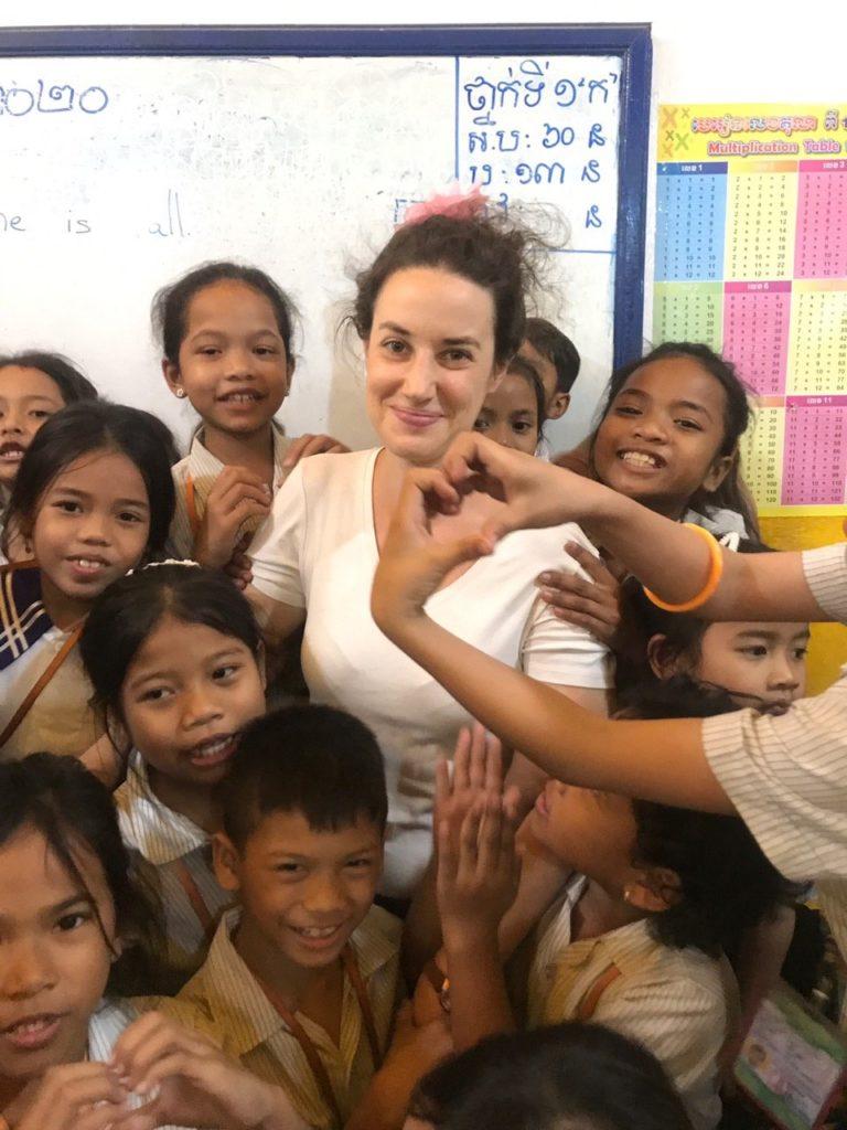 Berenice au Cambodge association enfants cours