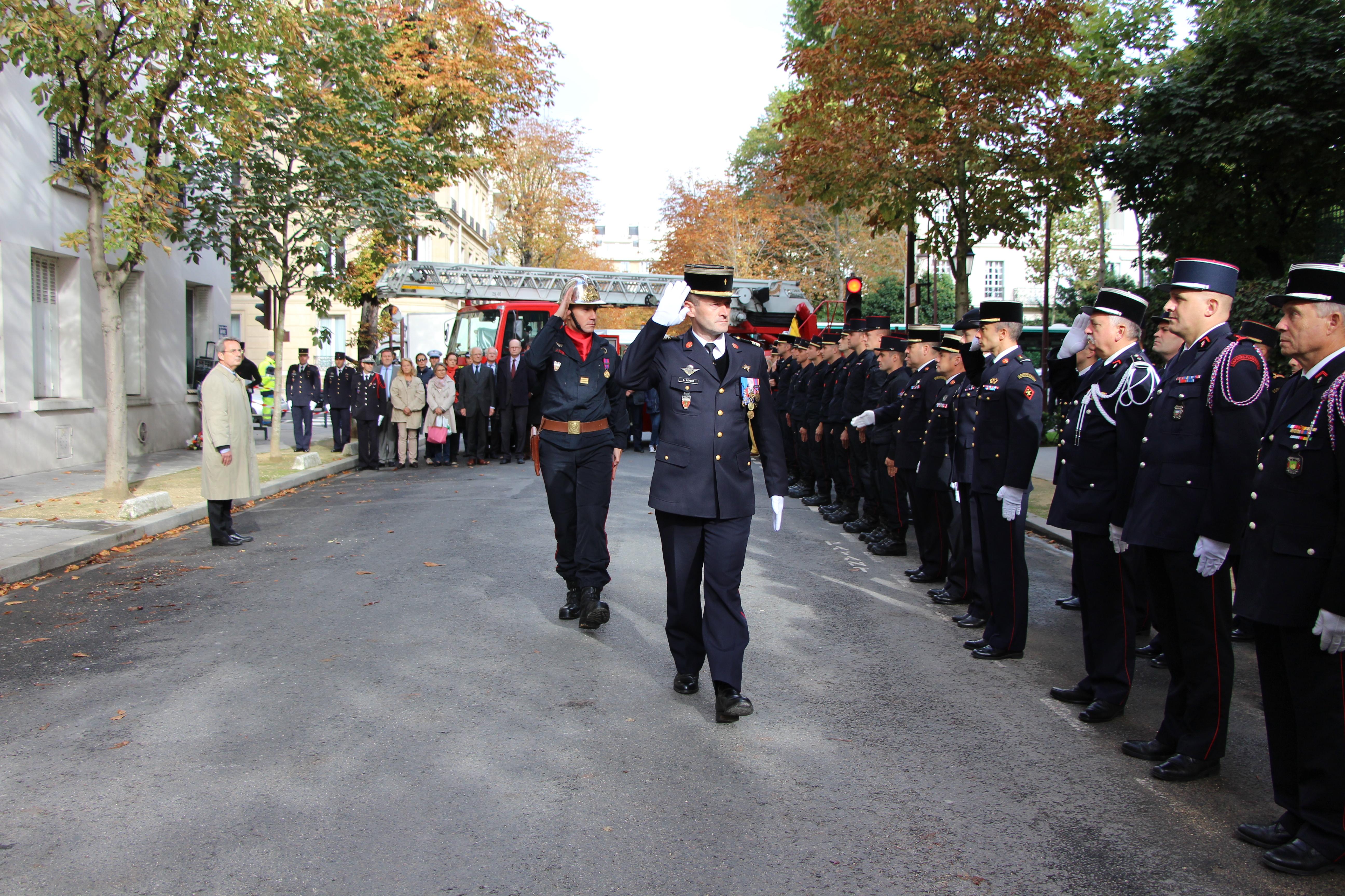 pompier ceremonie
