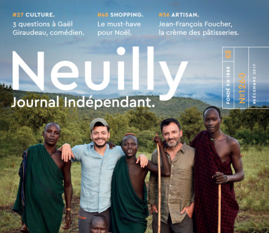 Couverture Neuilly Journal decembre 2017 kev Adams