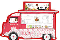 healthy truck clarins neuilly