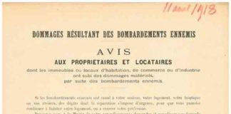 avis de dommages 1918 neuilly journal